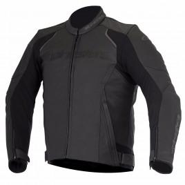 Δερμάτινο μπουφάν μηχανής Alpinestars Devon Μαύρο χρώμα