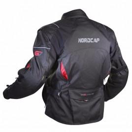 Καλοκαιρινό μπουφάν μηχανής Nordcap 6 Days WR Μαύρο χρώμα