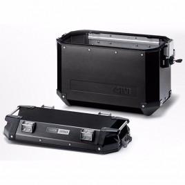 Πλαϊνή αριστερή βαλίτσα αλουμινίου 37 λίτρα ΟΒΚ37 Trekker Monokey Μαύρο χρώμα GIVI