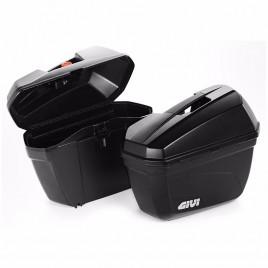 Βαλίτσες πλαϊνές ζευγάρι 22 λίτρα E22N Monokey Μαύρο χρώμα GIVI