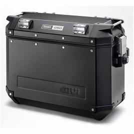 Πλαϊνή δεξιά βαλίτσα αλουμινίου 37 λίτρα ΟΒΚ37 Trekker Monokey Μαύρο χρώμα GIVI