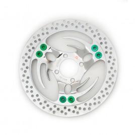 Δισκόπλακα μαργαρίτα Oversize για μπροστά Honda Innova 125cc Green