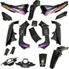 Πλαστικά σετ (κουστούμι) μαύρο χρώμα για Yamaha Crypton 105 Ινδονησίας