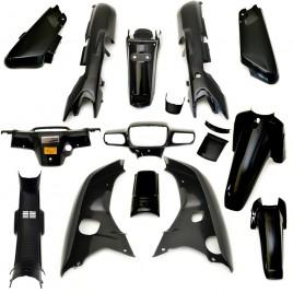 Πλαστικά σετ (Strong) μαύρο χρώμα για Honda Astrea Grand
