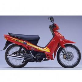 Γνήσια αριστερή εσωτερική ποδιά με αυτοκόλλητο κόκκινο χρώμα για Yamaha Crypton R 105cc