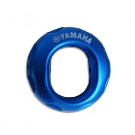 Διακοσμητικό γνήσιο καπάκι εξάτμισης Yamaha Crypton-X μπλέ χρώμα.