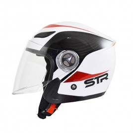 Κράνος Jet STR Sporty White Red