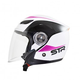 Κράνος Jet STR Sporty White Pink