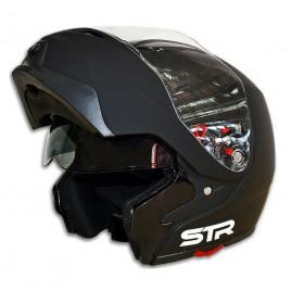 Σπαστό κράνος μηχανής STR Flipper Matt Black