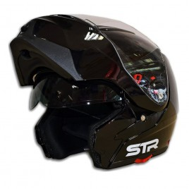 Σπαστό κράνος μηχανής STR Flipper Black