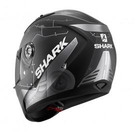 Κράνος μοτοσυκλέτας Shark 1.2 Ridill Mecca Mat Black/Silver